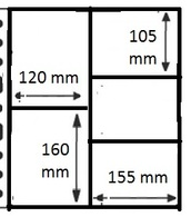 10 Pochettes GF  NEUVES/NIEUW - 5 Cases / 10 GF Mappen - 5 Vakken - Made In Belgium - Timbres