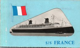 """ FRANCE "" - Carnet Complet De 10 Cpsm - Passagiersschepen"