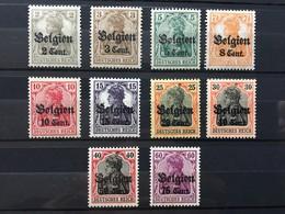 Belgique Occupation Allemande (*) MH Belgien 1916-18 YT 10 11 12 13 14 16 17 19 21 (côte 4,8 Euros) – 330 - Oorlog 14-18