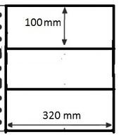 100 Pochettes GF - 3 Cases / 100 GF Mappen - 3 Vakken - Autre Matériel