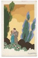 "Illustrateur: G. MESCHINI - RARE - ""Ars Nova"" - Couple -Dipinta A Mano / Peint à La Main - Aquarelle - Circulé - 2 Scans - Illustrateurs & Photographes"