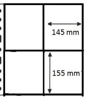 100 Pochettes GF - 4 Cases / 100 GF Mappen - 4 Vakken - Ander Materiaal