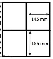 100 Pochettes GF  NEUVES/NIEUW - 4 Cases / 100 GF Mappen - 4 Vakken - Made In Belgium - Timbres