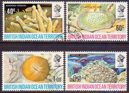 British Indian Ocean Territory 1972 SG #41-44 Compl.set Used Coral - British Indian Ocean Territory (BIOT)