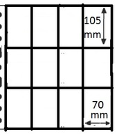100 Pochettes GF - 12 Cases (cartes à Jouer, Joker, ...) / 100 GF Mappen - 12 Vakken - Ander Materiaal