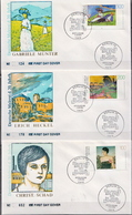 Germany Set On 3 FDCs From 1994 - Art