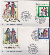 Germany Set On 5 FDCs From 1994 - Art