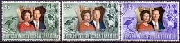 British Indian Ocean Territory 1972 SG #45-46 Compl.set Used Incl. 46b Green Shade Royal Silver Wedding - British Indian Ocean Territory (BIOT)