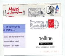 Lettre Flamme Etival Ferme Musee - Marcophilie (Lettres)