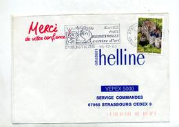 Lettre Flamme Eymoutiers Espace Rebeyrolle - Marcophilie (Lettres)