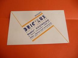 Publicité Carte Visite BRIC LUX BRIQUETS Ets DOUTRELON PARIS XV Square Desnouettes - Cartoncini Da Visita
