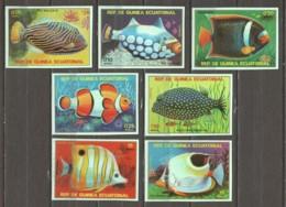 Equat. Guinea 1979 Mi A1469-A1475 MNH TROPICAL - FISHES (A) - Pesci