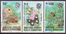 British Indian Ocean Territory 1973 SG #53-55 Compl.set Used Wildlife (1st Series) - British Indian Ocean Territory (BIOT)