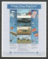 Palau 1997 Kleinbogen Mi 1179-1186 MNH AIRPLANES & PARACHUTES - Airplanes