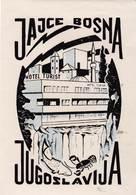 Etiquette De Bagage  Label Valise Etiqueta Hotel Turist  Jajce Bosna  Plitvice (Jugoslavia) Très Bon état - Reclame