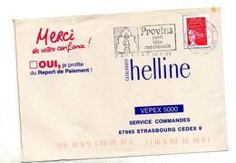Lettre Flamme Provins Fete Medievale - Marcophilie (Lettres)