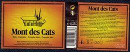 France Lot 2 Étiquettes Bière Beer Labels Mont Des Cats Ambrée Trappiste Scourmont - Bier