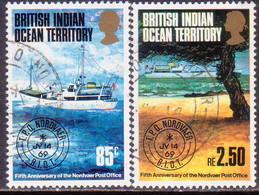 "British Indian Ocean Territory 1974 SG 56-57 Compl.set Used ""Nordvaer"" Travelling Post Office - British Indian Ocean Territory (BIOT)"