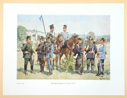 Deutsche Truppen Um 1870, Blatt 22, Um 1937. - Uniformen