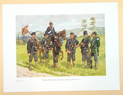 Süddeutsche Truppen Im Kriege Gegen Frankreich In 1870, Blatt 23, Um 1937. - Uniformen