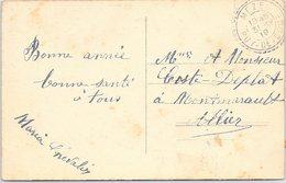 CARTE. 1919. SEMEUSE. TYPE 1884. PUY-DE-DOME. MEZEL / 2 - 1921-1960: Moderne