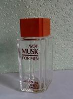 """Ancien Flacon à Bouchon   """"MUSK FOR MEN"""" D' AVON After Shave 100 Ml VIDE/EMPTY - Flacons (vides)"""