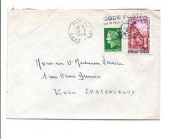 AFFRANCHISSEMENT COMPOSE SUR LETTRE DE PARIS GARE PLM 1974 - Marcophilie (Lettres)