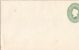 Guatemala, Lettre-Entier Neuve (140x83) 1/2 Medio Réal Vert (allégorie De La Liberté) - Guatemala