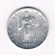 5 LIRE 1952 VATICAN /5924/ - Vatican