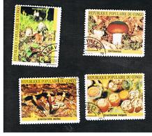 CONGO (BRAZZAVILLE) - SG 1007.1011  -  1985  MUSHROOMS     - USED ° - Congo - Brazzaville