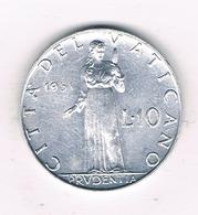 10 LIRE 1951 VATICAN /5926/ - Vatican