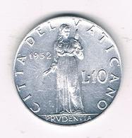 10 LIRE 1952 VATICAN /5927/ - Vatican