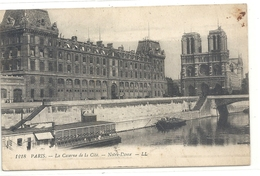 1218. PARIS . LA CASERNE DE LA CITE . NOTRE-DAME . CARTE ECRITE AU VERSO LE 12-3-1919 - France