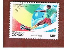 CONGO (BRAZZAVILLE) - SG 1345  -  1993  WORLD CUP FOOTBALL  - USED ° - Congo - Brazzaville
