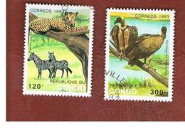 CONGO (BRAZZAVILLE) - SG 1352.1355  -  1993  ANIMALS   - USED ° - Congo - Brazzaville