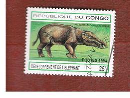 CONGO (BRAZZAVILLE) - MI 1412  -  1994 PREHISTORIC  ANIMALS:  PALEOMASTODON    - USED ° - Congo - Brazzaville