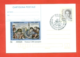 CARTOLINA POSTALE I.P.Z.S-C.P. I.P.Z.S.--MARCOFILIA-ANNULLATO A GELA - MOSTRA SALESIANA - Entiers Postaux