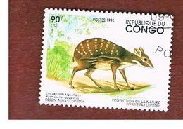 CONGO (BRAZZAVILLE) - MI 1422  -  1994  ANIMALS: WATER CHEVROTAIN  - USED ° - Congo - Brazzaville