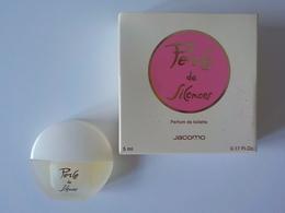 Miniature Pleine Avec Boîte Perle De Silences Parfum De Toilette Jacomo - Miniatures Anciennes (jusque 1960)