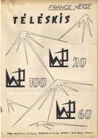 Fabriquant Téléphérique ( 3 Visuels) / Téléski France Neige Sport D'hiver Remontée Mécanique - Old Paper