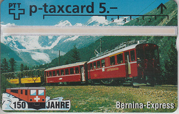 SUISSE - PHONE CARD - TAXCARD-PRIVÉE *** TRAIN - ZUG - 150 ANS / 3C *** - Suisse