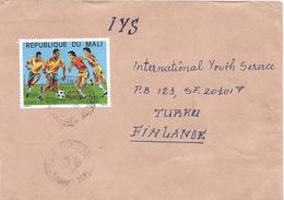 Mali 1992 Bamako World Cup Football Soccer Italia 225f Winners Overprint Cover - Mali (1959-...)