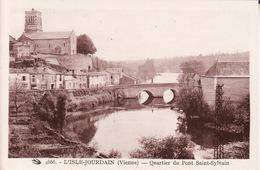 CPA 86 -  L'ISLE JOURDAIN - Quartier Du Pont Saint Sylvain - L'Isle Jourdain