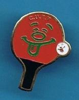 PIN'S //  ** CLUB UGINOIS DE TENNIS DE TABLE / PING PONG / C.U.T.T. / Haute Savoie ** - Tennis De Table