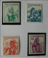 YUGOSLAVIA 1937 - TRAJES REGIONALES - YVERT  313A-313D - 1931-1941 Reino De Yugoslavia
