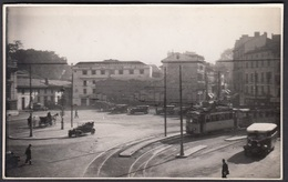 CPA 64 -  BAYONNE, Place De La Gare, Autocar, Tram - Carte Photo, 1933 - Bayonne