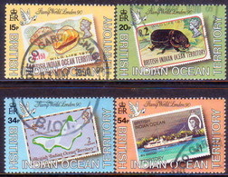 British Indian Ocean Territory 1990 SG 102-05 Compl.set Used London '90 - British Indian Ocean Territory (BIOT)