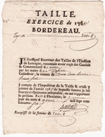 Bordereau 1765 Lomagne Fleurance Auch Gers Impôt Taille - Historische Documenten