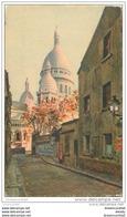 PARIS 18. Le Sacré-Coeur De Montmartre Rue Chevalier-de-la-Barre - Arrondissement: 18