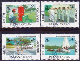 British Indian Ocean Territory 1991 SG 111-14 Compl.set Used BIOT Administration - Britisches Territorium Im Indischen Ozean